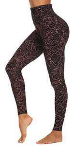 Leggings for Women Butt Lift -High Waisted Pattern Pants Soft Tummy Control Printed Tights for Workout Yoga Cycling