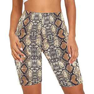"coastal rose Biker Shorts for Women High Waist Tie Dye Workout Shorts 7"" Comfy Gym Workout Yoga Shorts Tights Pattern12 L"