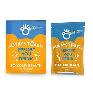 Toast! Before You Drink Gummies (16 Servings) - Bachelor & Bachelorette Party Kit Supplies, Gift Bag Favors - Milk Thistle, Prickly Pear, Vitamin B