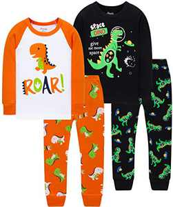 Boys Spacecraft Pajamas Christmas Children Dinosaurs Sleepwear Cute Girls Clothing Set Size 2