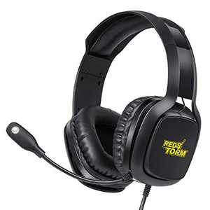 REDSTORM Gaming Headset PS4 Headset with 7.1 Surround Sound, PC Headset with Noise Canceling Mic & RGB Colors LED Light, Gaming Headphones for PS4, PC, Mac, Laptop