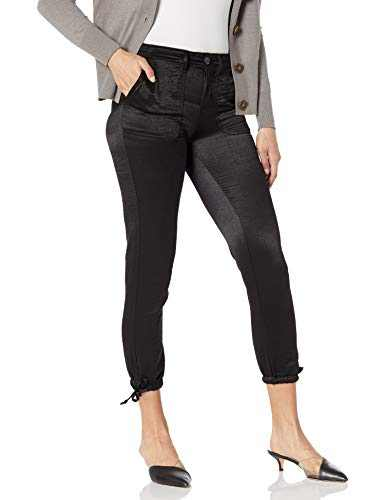 Jessica Simpson Women's Misses Get-Up-and-Go High Rise Utility Jogger, Black, 27 Regular