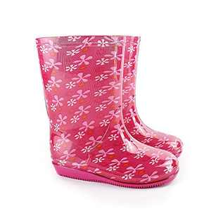 Girls Rain Boots, Baby Adorable Water Boot with Easy-On Lightweight, Toddlers Waterproof Printed Rubber Toddler Little/Big Kids Classic Wellies Rain Shoes