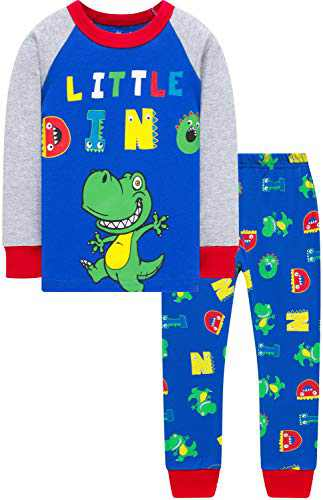 Boys Christmas Dinosaurs Pajamas Cute Girls School Pjs Children Rainbow Sleepwear Size 8