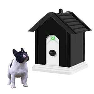 SOARING Sonic Anti Barking Device Outdoor Dog Bark Control Device with Adjustable Ultrasonic Level Control Safe for Dogs(Square)
