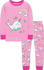 Little Girls Christmas Pajamas Kids Cotton Dolphin Clothes Children School Jammies Size 4