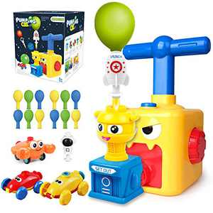 Balloon Launcher car toy set , Balloon Powered Car with Launch Tower, Inertial Power Balloon Car Toy with Pump12 Balloons, Fun Educational Balloon Toys Gifts for Kids Boys Girls 3+ and Classroom