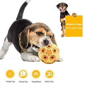 Growom Pineapple Dog Chew Toys for Aggressive Chewer Tough Indestructible Toys for Large Dogs Food Grade Puppy Toys Non-Toxic Rubber Teething Toy