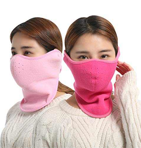 Winter Face Mask Cover (Pack of 2) Neck Gaiter Balaclava with Earflap Cold Weather F-M