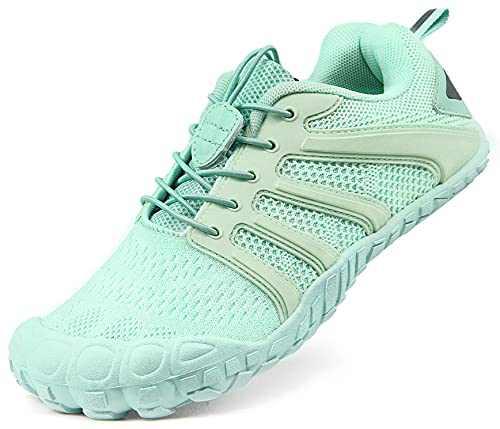 Oranginer Women's Lightweight Barefoot Shoes Zero Drop Minimalist Shoes Comfortable Walking Shoes for Women Green Size 10.5