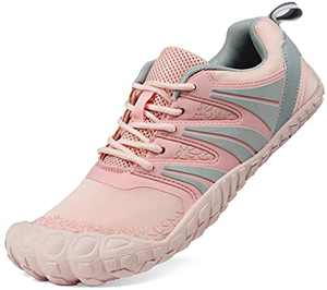 Oranginer Women's Comfortable Barefoot Shoes Zero Drop Minimalist Shoes Lightweight Running Sneakers Wide Toe Box Shoes for Women Pink Size 6.5