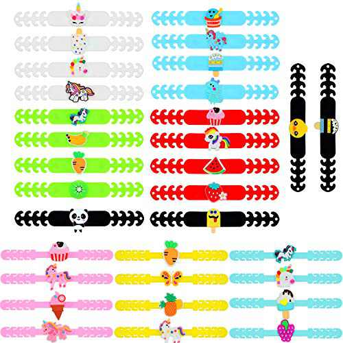 32 Pieces Face Cover Strap Extender Adjustable Length Face Cover Belt Ear Hook Protector Adjustable Anti-Slip Ear Pain Relieved with Personalized Charms (2 Sizes for Children and Adults)