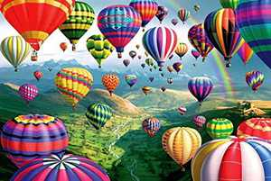 Jigsaw Puzzles for Adults 1000 Pieces, Hot Air Balloon-Wooden Puzzle for Wall Art, Challenging Game for Adults Children
