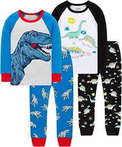 Boys Dinosaur Pajamas Children Christmas Cotton Pjs Kids Baby Girls Sleepwear Size 8