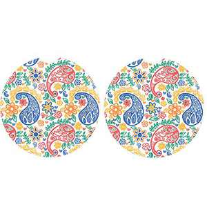 """2.56"""" Ceramic Car Coasters for Women 2 Pack,Mandala Sandstone Car Cup Holder Coasters for Drink,Must Have Car Accessories,Easy Remove and Clean(Multi)"""