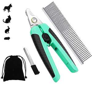 VONLUXE Dog & Cat Pets Nail Clippers and Trimmer - Safety with Guard to Avoid Over-Cutting Toenail,Free Nail File & Stainless Steel Comb - Professional Grooming Tool for Large and Small Animals