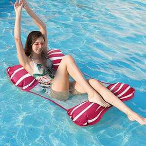 Pool Hammock, Homga 4-in-1 Pool Rafts Swimming Pool Floats Multi-Purpose Inflatable Water Hammock ( Lounge Chair, Saddle,Drifter) Portable Pool Chair