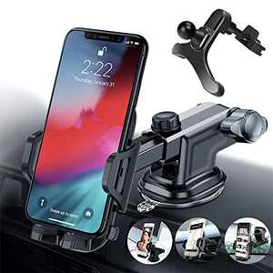 E-ACE Universal Car Phone Mount for Car Holder for iPhone ,with Strong Sticky Suction Cup Suitable for Dashboard Windshield Air Vent and Desk Compatible with a Width of 2''-3.5'' Phone and Navigator