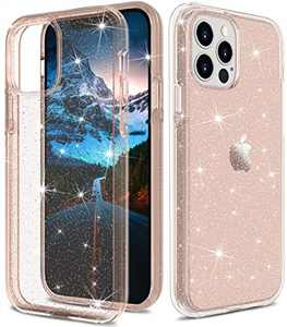 """ONOLA Compatible with iPhone 12 Pro Max Case Clear Glitter for Women Girls [Only Fit iPhone 12 Pro Max 6.7""""] iPhone 12 Pro Max 5G Case Cute Clear Cover for iPhone 12 Pro Max Phone(Rose Gold)"""