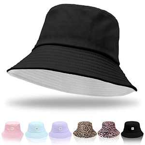 Women Bucket Hats - Unisex Bucket Hat Cotton Beach Hat Summer Fisherman Hat Sun Hat for Women Men