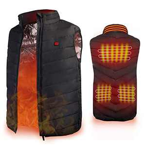 Heated Vest, Enjoyee Warming Heated Vest for Men Women Unisex Electric Heating Vest for Skiing Hunting Fishing