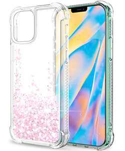 """SunStory Compatible with iPhone 12 Pro Max Case Glitter Clear [Only Fit Pro Max 6.7""""], Compatible with iPhone 12 Pro Max 5G Case for Women Girls with Moving Shiny Quicksand (White)"""