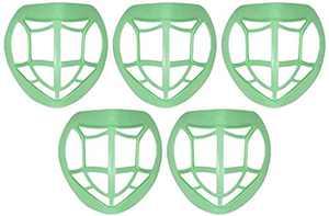 3D Mask Bracket, 5 Pack Reusable Lipstick Protection Mask Bracket, Breathable Safety Respirator Support, Enhance Breathing Space