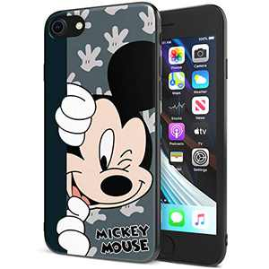 DISNEY COLLECTION iPhone 7/8 Case 4.7 Inch,Mickey Cute Cartoon Soft Flexible TPU Ultra-Thin Shockproof Bumper Protective Cover,Scratch-Resistant and Fade-Resistant Case for iPhone 7/8