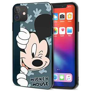 DISNEY COLLECTION iPhone 11 Case 6.1 Inch,Mickey Cute Cartoon Soft Flexible TPU Ultra-Thin Shockproof Bumper Protective Cover,Scratch-Resistant and Fade-Resistant Case for iPhone 11