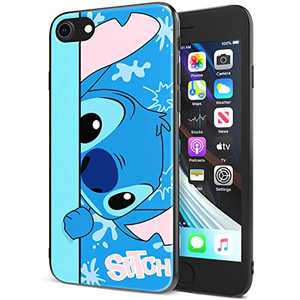 DISNEY COLLECTION iPhone 7/8 Case 4.7 Inch,Stitch Cute Cartoon Soft Flexible TPU Ultra-Thin Shockproof Bumper Protective Cover,Scratch-Resistant and Fade-Resistant Case for iPhone 7/8