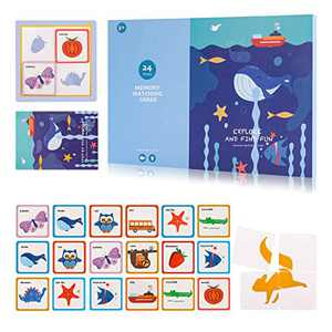 Holiday Unicorn Matching Puzzles Card Game for Kids Christmas Birthday Gift for Baby Toddler 3 4 5 Educational Learning Kindergarten Flashcards Tools