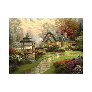 """AMEMNY DIY 5D Countryside Diamond Painting Kits for Adult Painting by Number Kit Round Drill Embroidery Cross Stitch Farm Diamond Painting Set for Home Wall Decor (12""""x16""""inch)"""