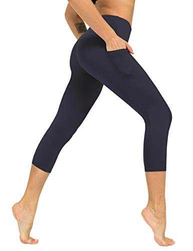 ZIIIIIZ High Waist Yoga Pants for Women Tummy Control Workout Athletic Compression Leggings with Pockets for Women(Grey,Small)