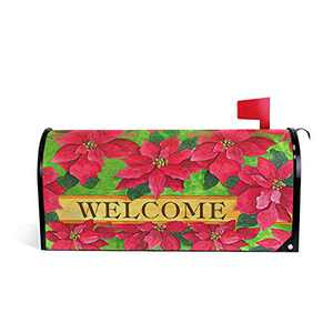 """FULUHUAPIN Welcome Spring Floral Mailbox Cover Magnetic Gift Garden Home Decorations Standard Size-18""""x 20.8"""" 2030157"""