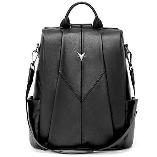 WESTBRONCO Women Backpack Purse PU Leather Anti-Theft Fashion Designer Backpack Ladies Shoulder Bag