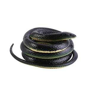 Nigun Tricky Snake Long Realistic Garden Rubber Snake Fake Snakes for Fool's Day Halloween Novelty Toy