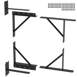 Qualward Gate Corner Brace Bracket No Sag Frame Kit for Shed Doors, Driveway Gates, Corral Gates,Wood Windows
