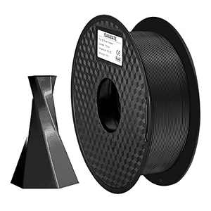 iSANMATE 3D Printer Filament, Black PLA+ Filament 1.75mm,Dimensional Accuracy +/- 0.02 mm, 1 kg Spool,Black PLA for FDM Printers or 3D Pen Suitable in Printing 3D Model Gifts - Easy to Print