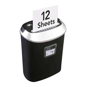 Flexispot Paper Shredder, 12-Sheet Cross Cut Heavy Duty Paper Shredder for Home Office, 6.6 Gallons Paper, Credit Card, CD, DVD Shredder Machine, High-Security (Black)
