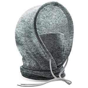 Winter Beanie Knit Hats, Adjustable Ski Hat Warm Ski Face Mask for Women Men Light Grey
