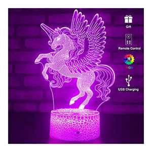 Unicorn Toys for 3 4 5 6 7 8 9 Year Old Girls Gifts, Girl Unicorn Birthday Gifts, Kids Bedside Desk Lamp Night Light for Toddles