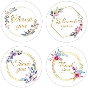 1000 Pcs 1.5 inch Thank You Stickers 4 Patterns for Your Choice Supplies for Business Packaging Perfect for Wedding and Party Gifts Envelopes Boutiques