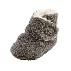Baby Girls Boots, TMEOG Newborn Baby Fleece Cozy Booties Non-Skid Toddler Slippers Infant Toddler First Walkers Winter Warm Socks Shoes