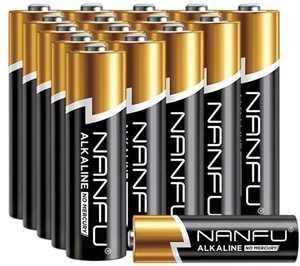 Nanfu Alkaline AA Batteries (16 Count), Long Life Leak-Proof Mercury-Free Battery Multi Pack – x 16