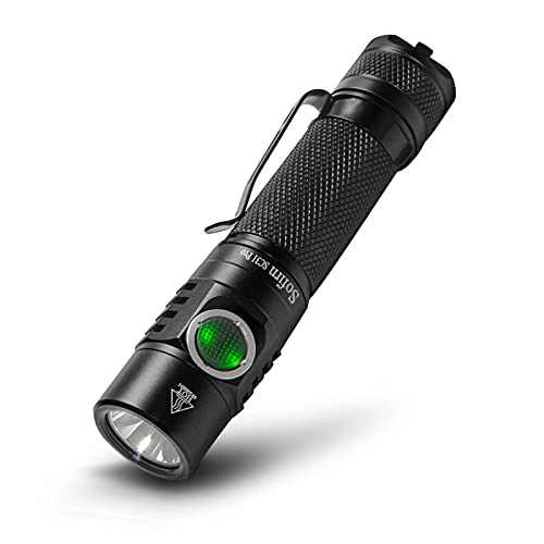 Sofirn SC31 Pro Rechargeable Flashlight 2000 Lumens, Pocket Light with Powerful SST40 6500K LED, Complex Anduril UI, 18650 Battery(Inserted) and USBA to USBC Cable Included