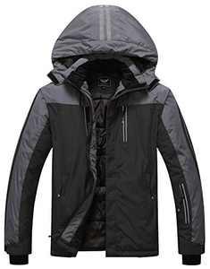 Men's Mountain Waterproof Ski Jacket Winter Warm Snow Coat Windproof Rain Jacket