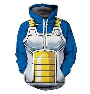 Vegeta Battle Suit Pullover Hoodie 7 Asian 5XL