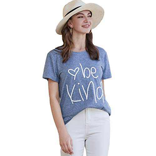 Pebeo Shirts Women Short Sleeves Girl Shirt (Large, Blue)