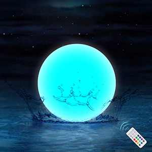 Chakev Floating Pool Lights with Timer, 3-inch IP67 Waterproof Bathtub Orb Light, Ideal Decor for Pond Pool, Swimming Pool, Garden, Beach, Hot Tub, Christmas, Party (1Pack)