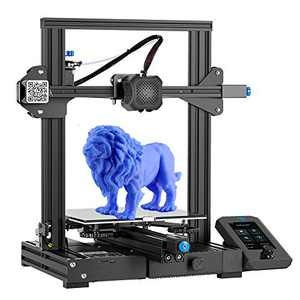 Creality Ender 3 V2 3D Printer with 200g Test Filament Silent Mainboard Meanwell Power Supply Carborundum Glass Platform and Resume Printing 220x220x250mm Ideal for Beginners